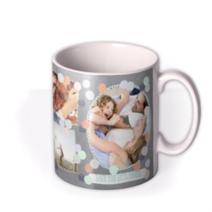Mugs - Pastel Dots Multi-Photo Personalised Mug - Image 2
