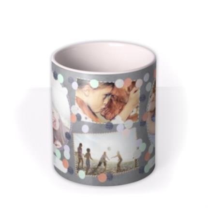 Mugs - Pastel Dots Multi-Photo Personalised Mug - Image 3
