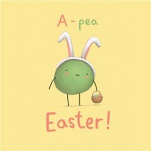 Greeting Cards - A-Pea Easter Personalised Happy Easter Card - Image 1