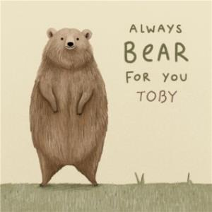 Greeting Cards - Always there for you Bear empathy thinking of you card  - Image 1