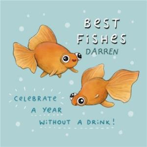 Greeting Cards - Best Wishes Best Fishes sobriety sober empathy thinking of you card  - Image 1