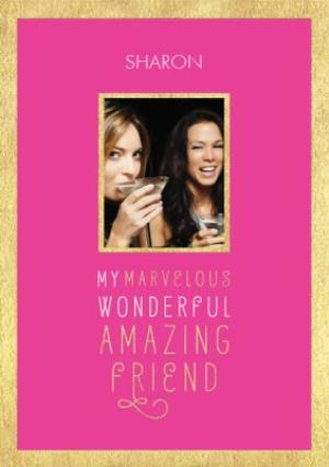 Greeting Cards - Friend Photo Birthday Card - A Birthday Card For An Amazing Friend - Image 1