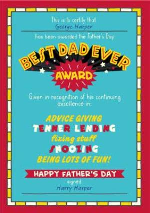 Greeting Cards - Best Dad Ever Fathers Day Card - Image 1