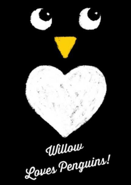 T-Shirts - Christmas Penguin Love Personalised T-shirt - Image 4