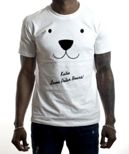 T-Shirts - Christmas Polar Bear Love Personalised T-shirt - Image 2