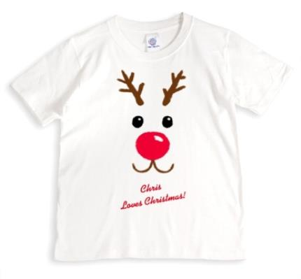 T-Shirts - Christmas Reindeer Love Personalised T-shirt - Image 1