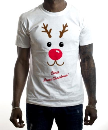 T-Shirts - Christmas Reindeer Love Personalised T-shirt - Image 2