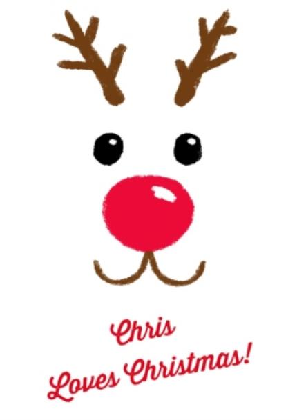 T-Shirts - Christmas Reindeer Love Personalised T-shirt - Image 4