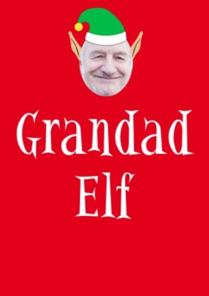 T-Shirts - Elf Themed Grandad Elf Photo Upload Red T Shirt - Image 4
