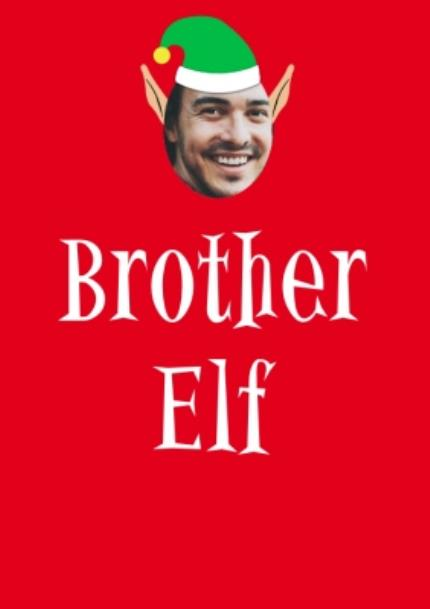 T-Shirts - Elf Themed Brother Elf Photo Upload Red T Shirt - Image 4
