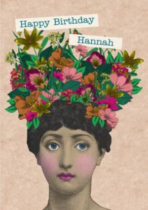 Greeting Cards - Birthday Card - Happy Birthday - Cut Out - Collage - Floral - Image 1