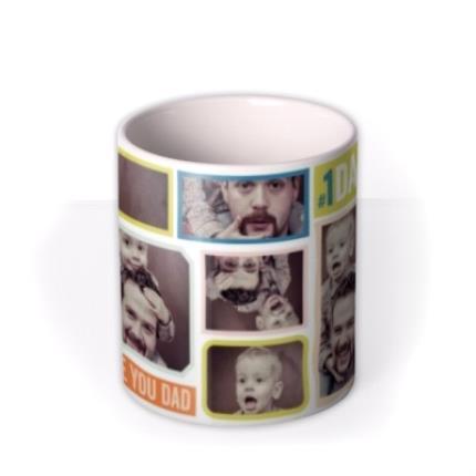 Mugs - Bright Photo Collage Personalised Mug - Image 3