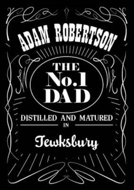 T-Shirts - Jack Daniels Inspired Label No.1 Dad T-Shirt - Image 4