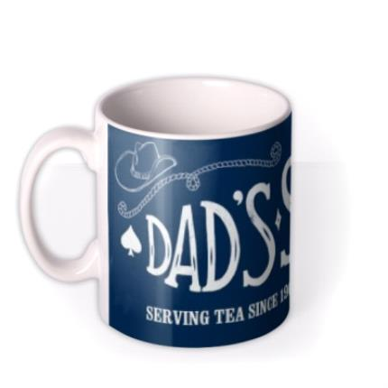 Mugs - Father's Day Dad's Saloon Personalised Mug - Image 1