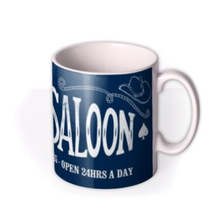 Mugs - Father's Day Dad's Saloon Personalised Mug - Image 2