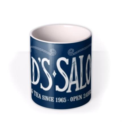 Mugs - Father's Day Dad's Saloon Personalised Mug - Image 3
