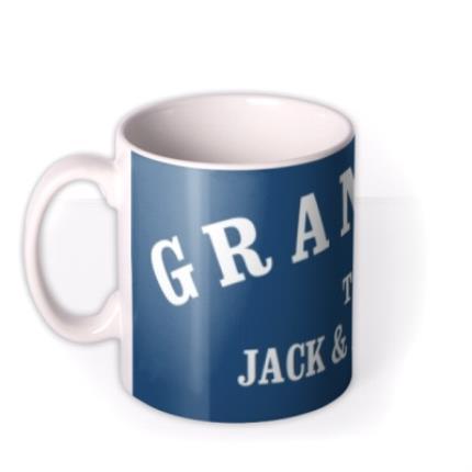 Mugs - Personalised Grandad Navy Blue Mug - Image 1