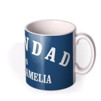 Mugs - Personalised Grandad Navy Blue Mug - Image 2