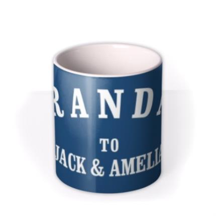 Mugs - Personalised Grandad Navy Blue Mug - Image 3
