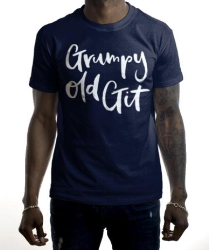 T-Shirts - Grumpy Old Git Navy T-Shirt - Image 2