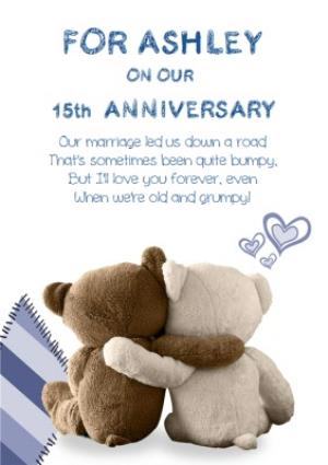 Greeting Cards - 15th Anniversary Card - Image 1