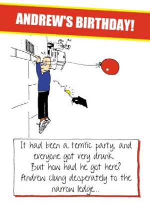 Greeting Cards - A Terrific Birthday Funny Personalised Birthday Card - Image 1