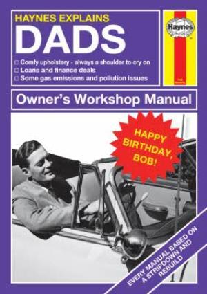 Greeting Cards - Haynes Explains Dads Birthday Photo Upload Card - Image 1