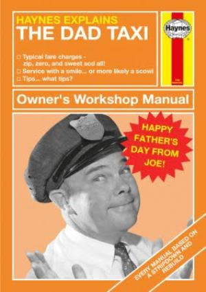 Greeting Cards - Haynes Explains - The Dad Taxi - Photo Upload Card - Image 1
