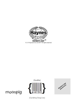 Greeting Cards - Haynes Explains - The Dad Taxi - Photo Upload Card - Image 4