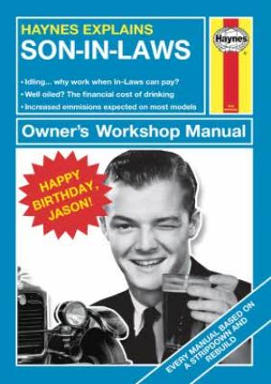 Greeting Cards - Haynes Explains Son-in-law Birthday Photo Upload Card - Image 1