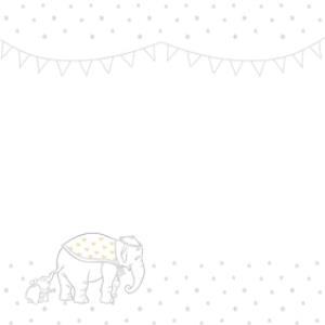 Greeting Cards - Big Elephant And Little Elephant Personalised Christening Day Card - Image 2