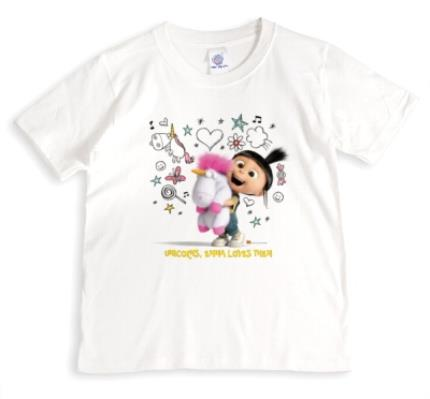 T-Shirts - Despicable Me Unicorns Personalised Name T-Shirt - Image 1