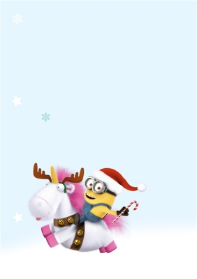 Despicable Me One In A Minion Christmas Thank You Card Moonpig