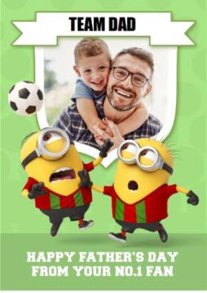 Greeting Cards - Minions Football Father's Day Card - Image 1