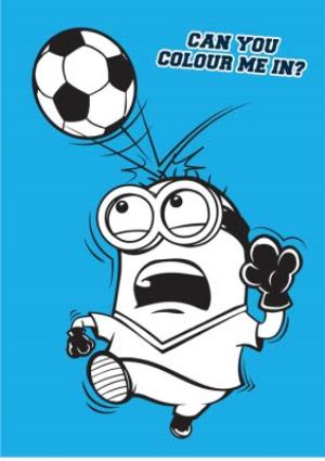 Greeting Cards - Kid's Birthday Cards - Minions - Football - Photo Upload Cards - Image 2