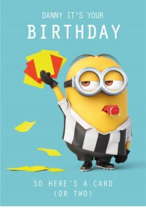 Teens Birthday Cards Minions Football Moonpig