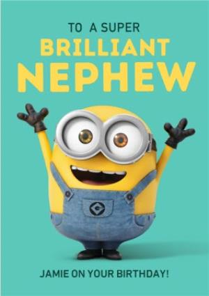 Greeting Cards - Minions Brilliant Nephew Birthday Card  - Image 1