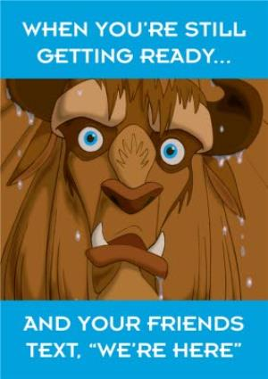 Greeting Cards - Birthday Card - Beauty and The Beast - night out - Image 1