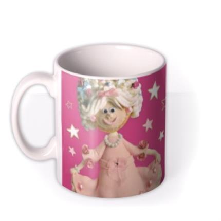 Mugs - Princess Pink Biscuit Personalised Mug - Image 1