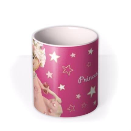 Mugs - Princess Pink Biscuit Personalised Mug - Image 3