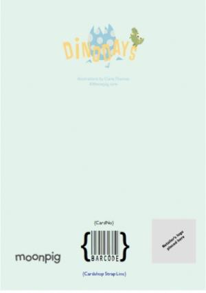 Greeting Cards - 5th Birthday Card - Dinosaur Card - Image 4