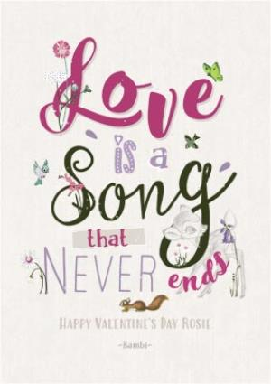 Greeting Cards - Love Is A Song Personalised Valentines Day Card - Image 1