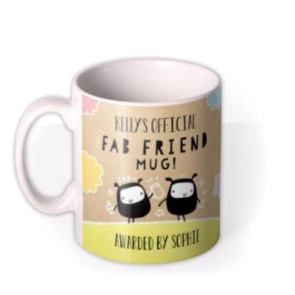 Mugs - Fab Friend Photo Upload Mug - Image 1