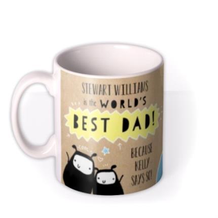 Mugs - Father's Day World's Best Dad Photo Upload Mug - Image 1