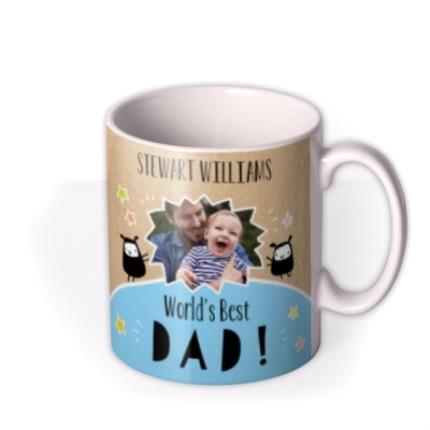 Mugs - Father's Day World's Best Dad Photo Upload Mug - Image 2