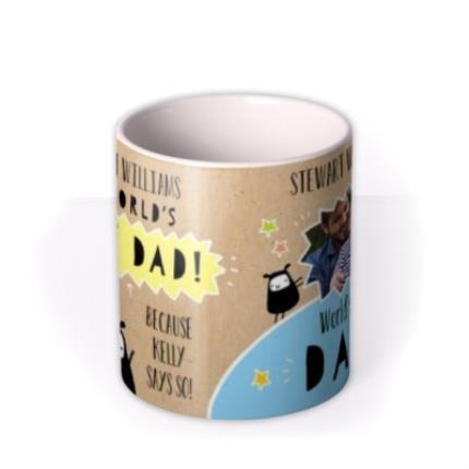Mugs - Father's Day World's Best Dad Photo Upload Mug - Image 3