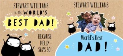 Mugs - Father's Day World's Best Dad Photo Upload Mug - Image 4