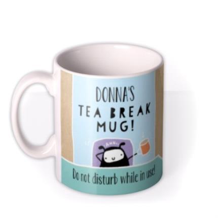 Mugs - Time For a Tea Break Personalised Mug - Image 1