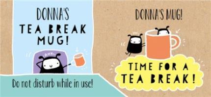 Mugs - Time For a Tea Break Personalised Mug - Image 4