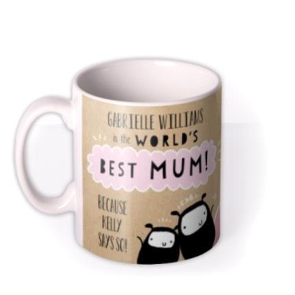 Mugs - Mother's Day World's Best Mum Photo Upload Mug - Image 1